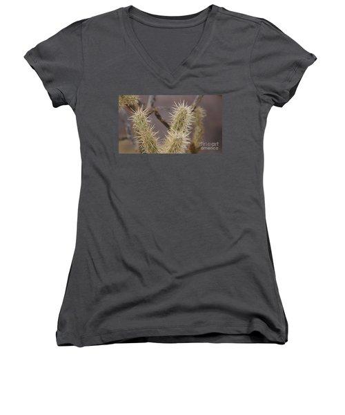I Bite Women's V-Neck T-Shirt