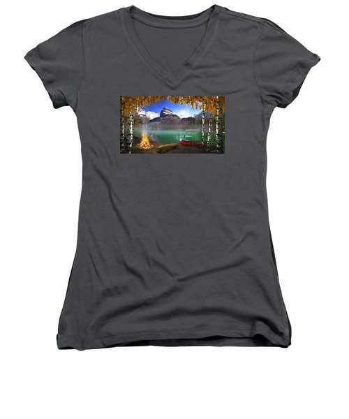 I Stillness I Heal Women's V-Neck T-Shirt