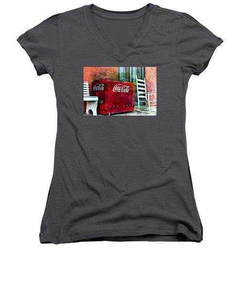 Ice Cold Coca Cola Women's V-Neck T-Shirt