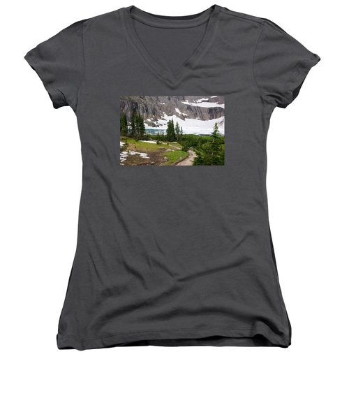 Iceberg Lake Women's V-Neck T-Shirt