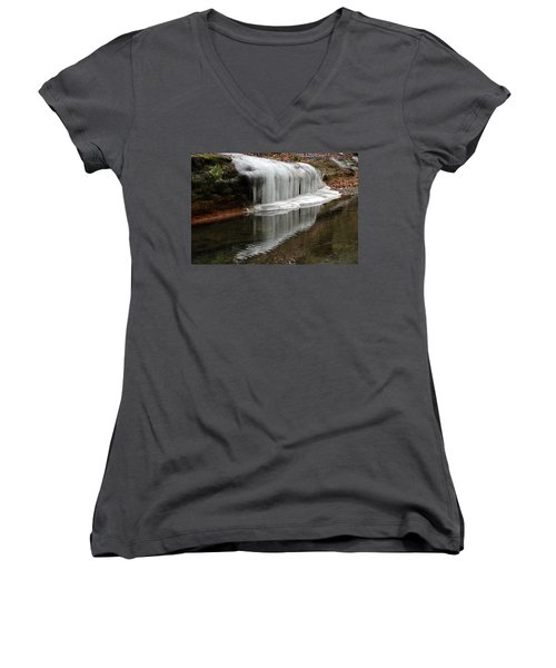 Icicle Reflection  Women's V-Neck (Athletic Fit)