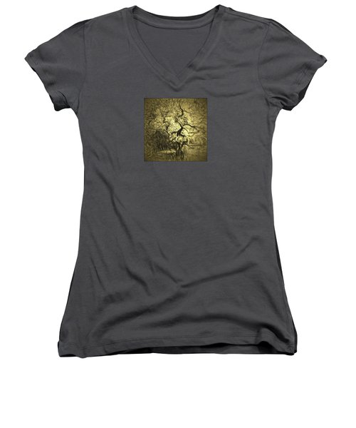 Illusion Tree Women's V-Neck (Athletic Fit)