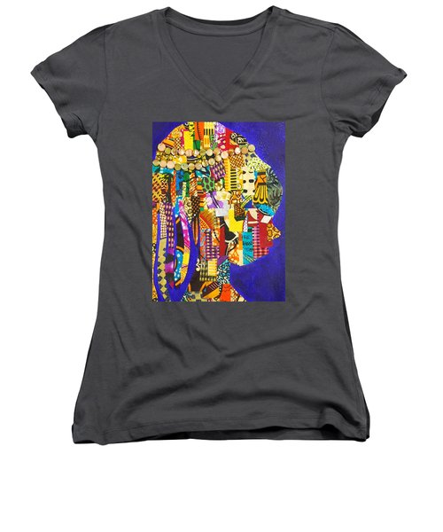 Imani Women's V-Neck T-Shirt (Junior Cut) by Apanaki Temitayo M