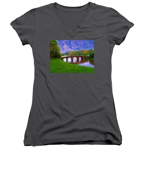 Impressions Of Stourhead Women's V-Neck T-Shirt