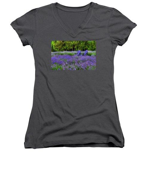 In Lavender Women's V-Neck T-Shirt