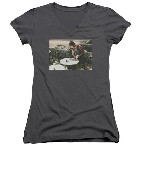 In The Absence Of A Dream Women's V-Neck T-Shirt