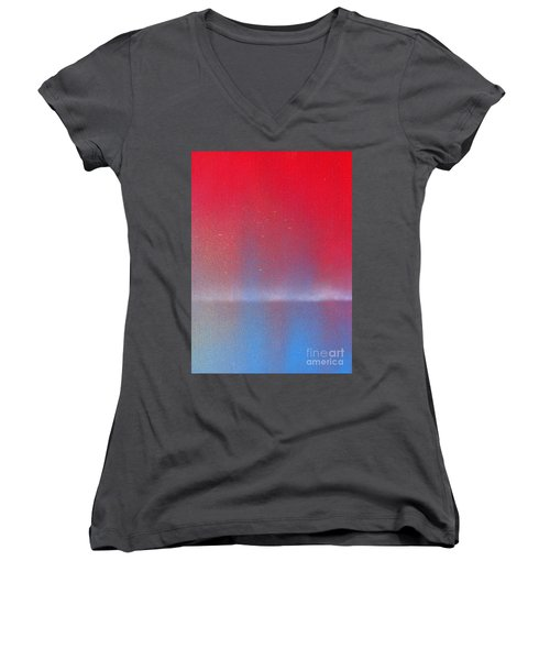 Women's V-Neck T-Shirt (Junior Cut) featuring the painting In This Twilight by Roz Abellera Art