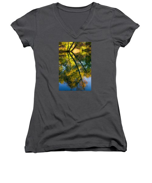 Incredible Colors Women's V-Neck T-Shirt (Junior Cut) by Parker Cunningham