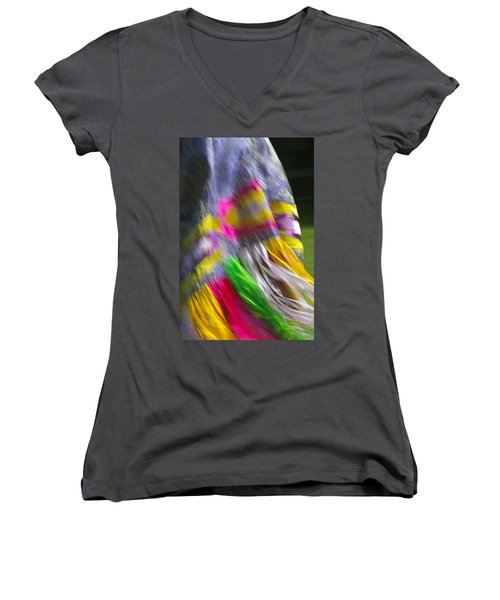 Indian Dance Women's V-Neck T-Shirt
