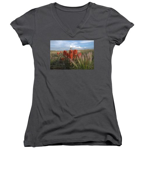 Indian Paintbrush Women's V-Neck
