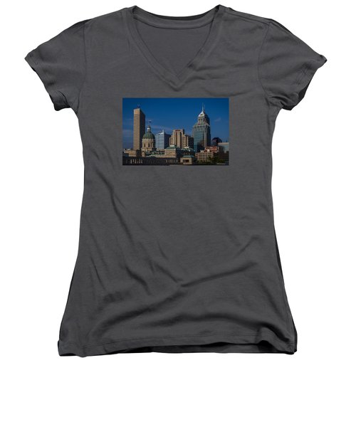 Indianapolis Skyscrapers Women's V-Neck T-Shirt