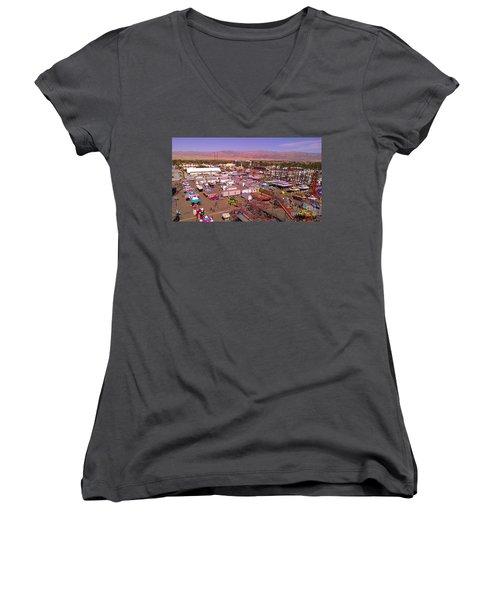 Indio Fair Grounds Women's V-Neck T-Shirt