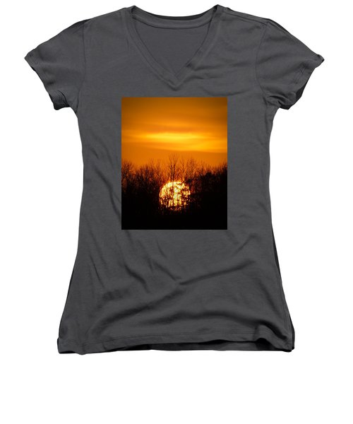 Inferno In The Trees Women's V-Neck