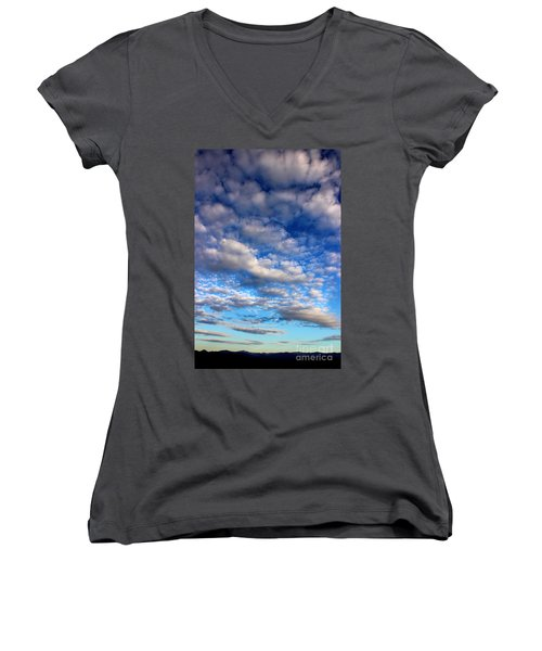 Influence Of Dusk Women's V-Neck T-Shirt (Junior Cut) by Michael Eingle