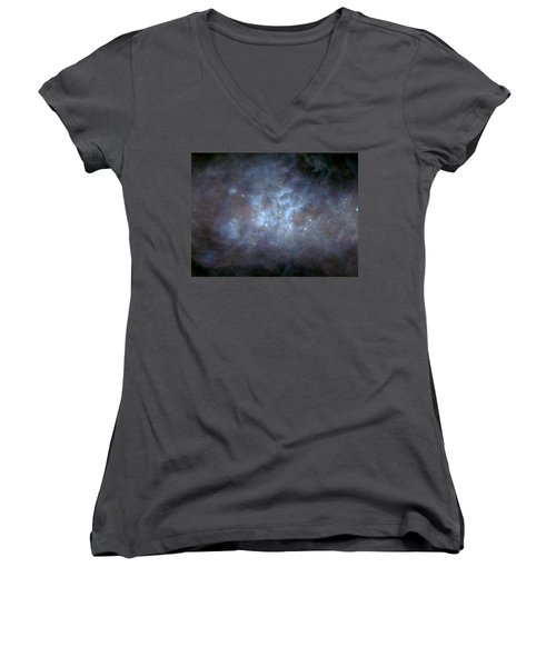 Women's V-Neck T-Shirt (Junior Cut) featuring the photograph Infrared View Of Cygnus Constellation by Science Source