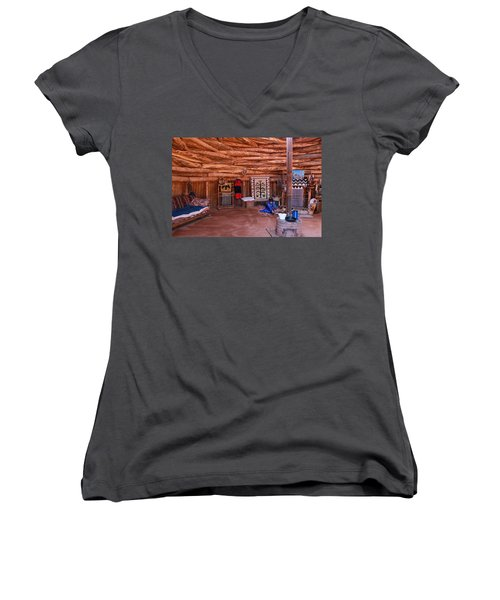 Inside A Navajo Home Women's V-Neck T-Shirt