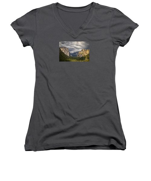 Inspiration Women's V-Neck T-Shirt (Junior Cut) by Alice Cahill