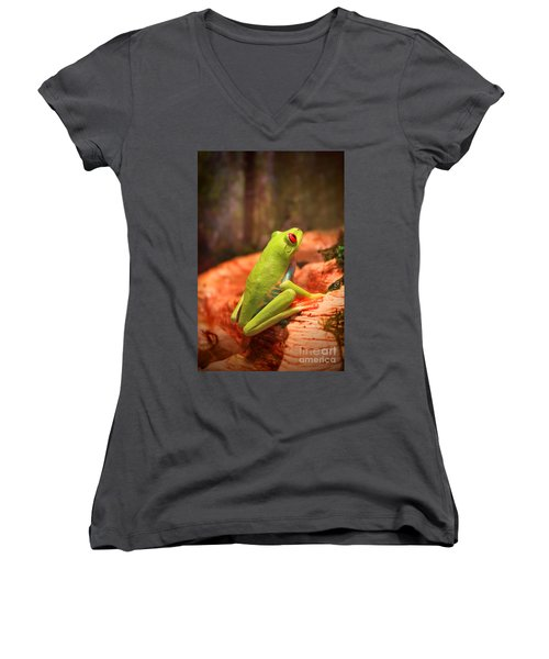 Women's V-Neck T-Shirt (Junior Cut) featuring the photograph Inspirations For Tomorrow by Cathy  Beharriell