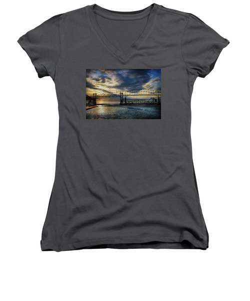 International Blues Women's V-Neck T-Shirt