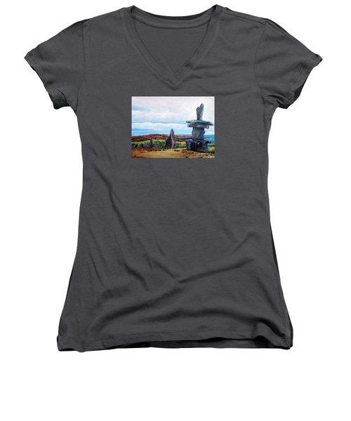 Inukshuk Women's V-Neck T-Shirt (Junior Cut)