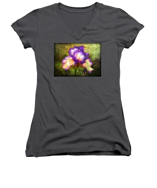 Iris Beauty Women's V-Neck T-Shirt (Junior Cut) by Lilia D