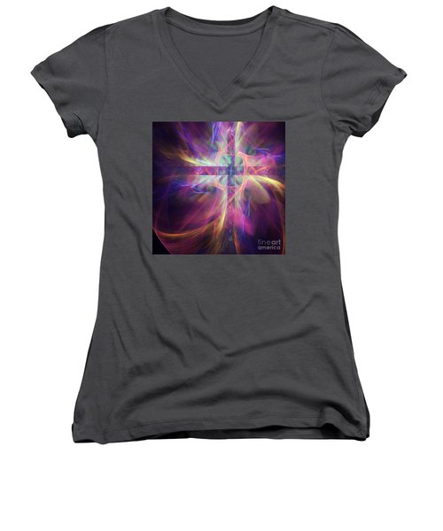 It Is Finished Women's V-Neck (Athletic Fit)