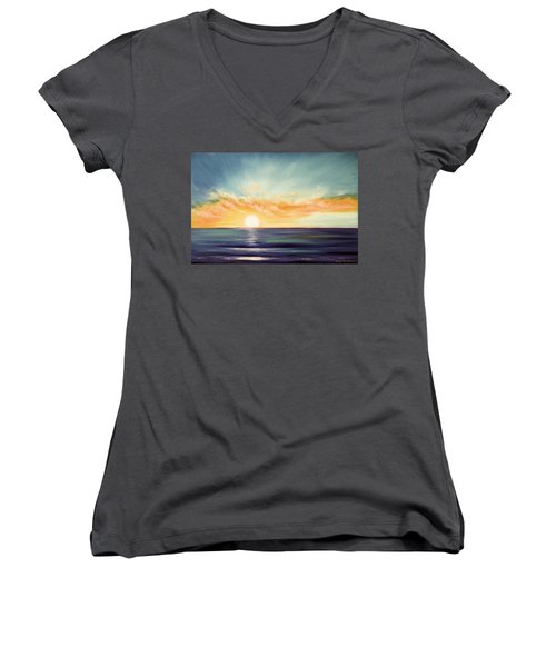 It's A New Beginning Somewhere Else Women's V-Neck (Athletic Fit)