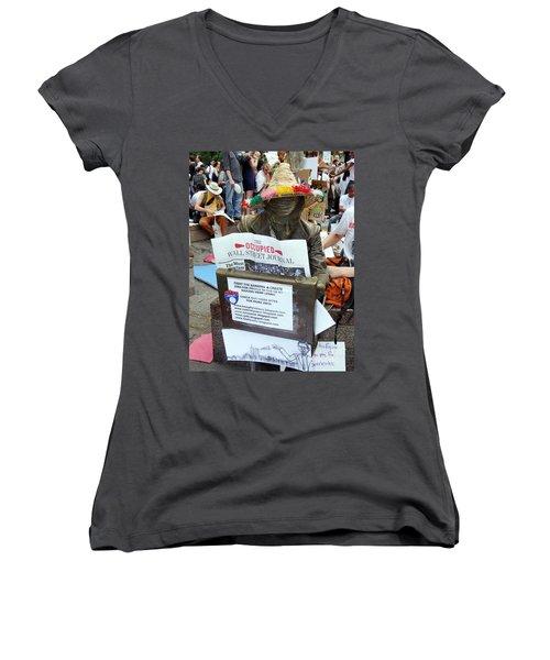 Women's V-Neck T-Shirt (Junior Cut) featuring the photograph Its A New Dawn by Ed Weidman