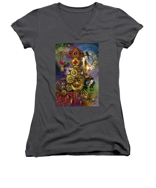 Its About Time Women's V-Neck T-Shirt (Junior Cut)