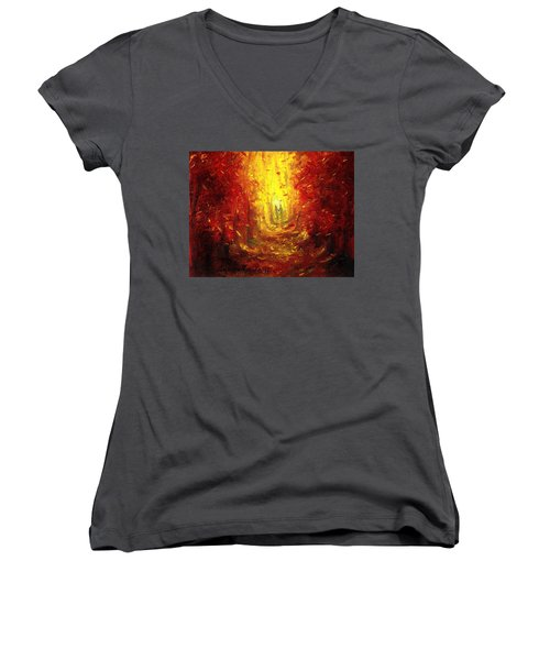 Ive Fallen For You Women's V-Neck T-Shirt (Junior Cut) by Shana Rowe Jackson
