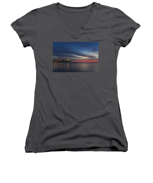 Women's V-Neck T-Shirt featuring the photograph Jaffa On Ice by Ron Shoshani