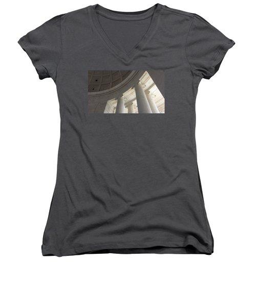 Jefferson Memorial Architecture Women's V-Neck