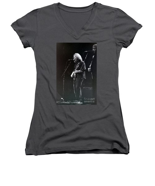 Grateful Dead -  In And Out Of The Garden  Women's V-Neck T-Shirt (Junior Cut) by Susan Carella