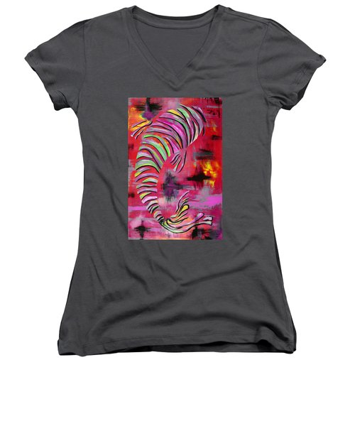 Jewel Of The Orient #3 Women's V-Neck (Athletic Fit)