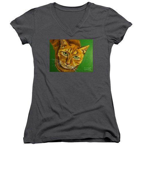 Jing Jing - Cat Women's V-Neck (Athletic Fit)