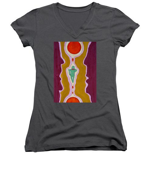 Journey Between Suns Original Painting Women's V-Neck (Athletic Fit)