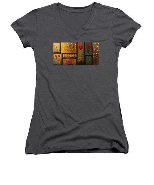 Joyful Garden Women's V-Neck T-Shirt