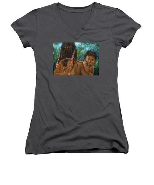 Jungle Family Women's V-Neck T-Shirt