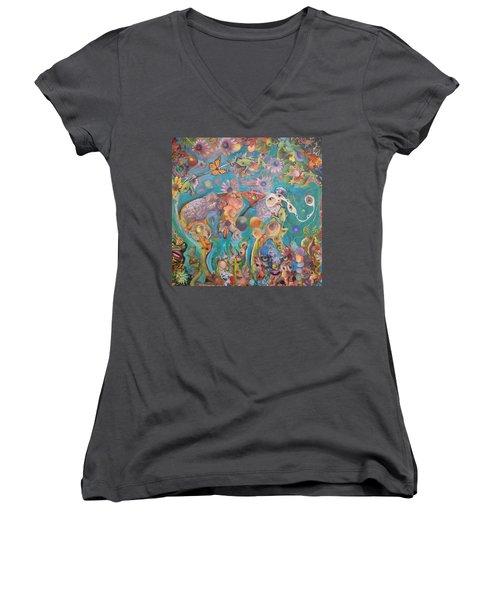 Jungledelphia Women's V-Neck T-Shirt