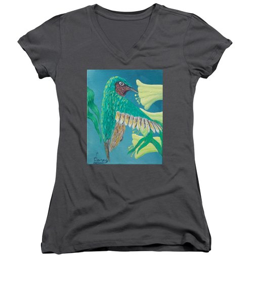 Just A Hummingbird Women's V-Neck T-Shirt