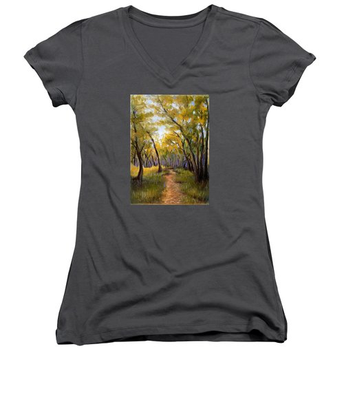 Just Before Autumn Women's V-Neck (Athletic Fit)