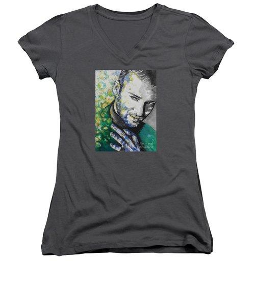 Justin Timberlake...01 Women's V-Neck T-Shirt