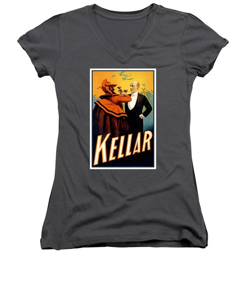 Kellar Toasts The Devil Women's V-Neck T-Shirt