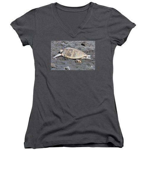 Kickin' Back Women's V-Neck T-Shirt