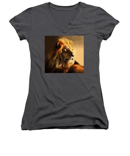 King Lion Of Africa Women's V-Neck