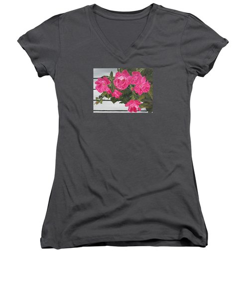Knock Out Roses Women's V-Neck T-Shirt