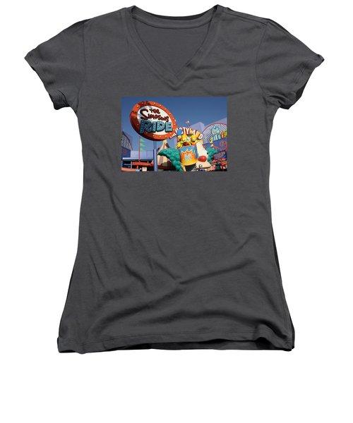 Krusty Women's V-Neck (Athletic Fit)