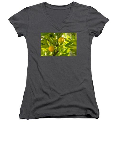 Kumquats Women's V-Neck T-Shirt