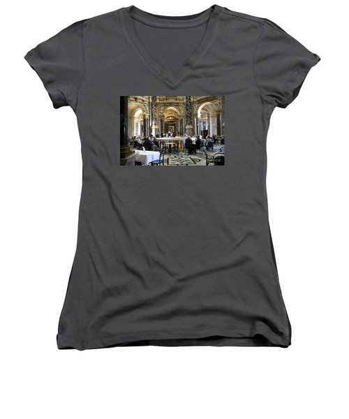 At The Kunsthistorische Museum Cafe II Women's V-Neck (Athletic Fit)