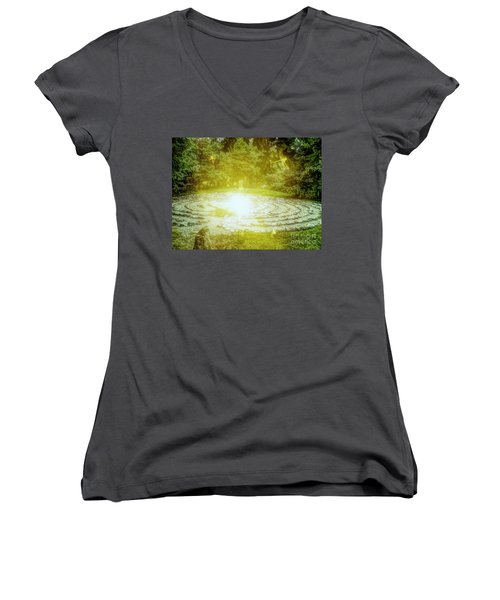Labyrinth Myth And Mystical Women's V-Neck (Athletic Fit)